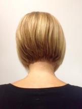 A Line Bob on Blonde Hair