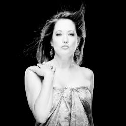 Fashion photo shoot, wind blown hair