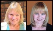 Before and After Haircut, Blonde Highlights and Halo Couture Extensions