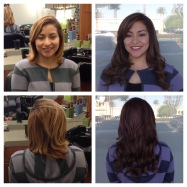 Before and After Hair Extensions and Hair Color