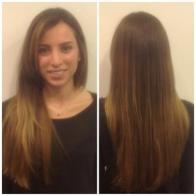 Ombre Hair Color from rich brunette to golden blond