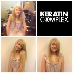 Before and After Keratin Complex Straightening